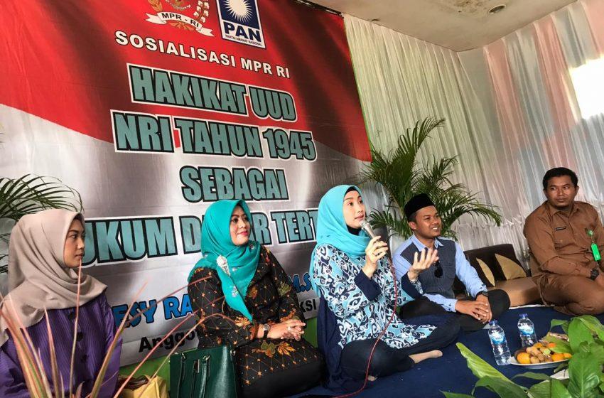 Desy Ratnasari Sosialisasi Hakekat UUD 1945 di MTs Nurul Huda Kab. Sukabumi