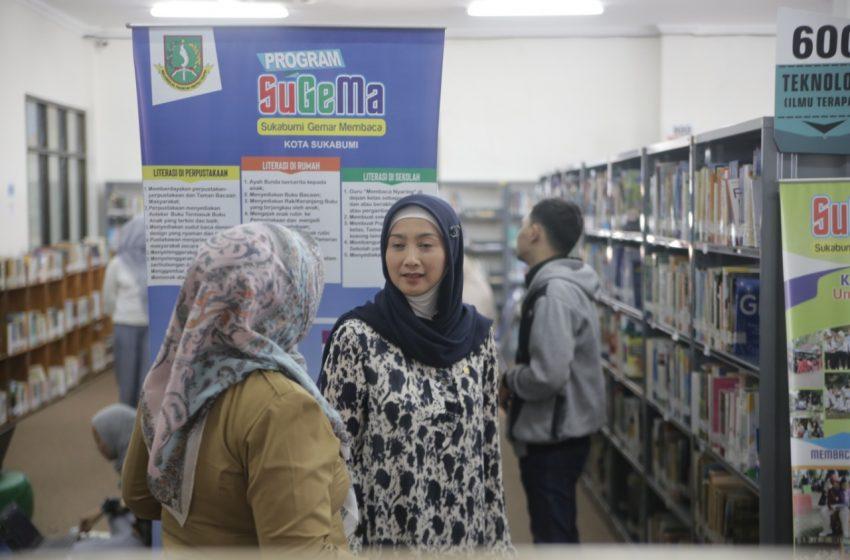 Desy Ratnasari Serap Aspirasi Langsung di Perpustakaan Daerah Kota Sukabumi