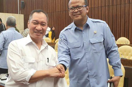 Muhammad Syafrudin Anggota DPR RI Komisi IV Fraksi PAN bersama Menteri KKP Edhy Prabowo