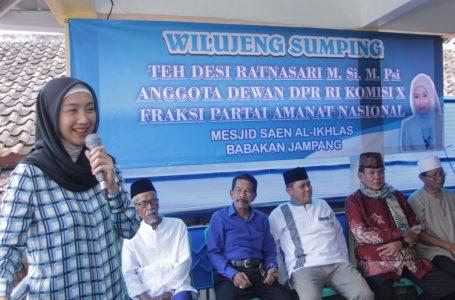 Desy Meninjau Bantuan Aspirasi Pembangunan Masjid Di Kota Sukabumi