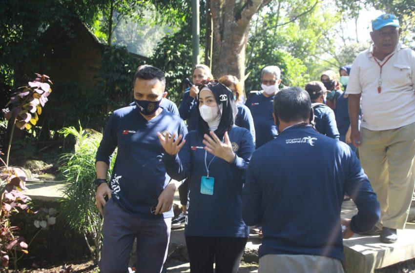 Semangat Gerakan BISA Desy Ratnasari bersama Kemenparekraf di Pondok Halimun Kab. Sukabumi